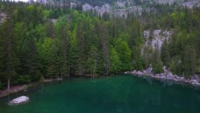 Alpine lake views of Lac Vert chamonix France. Alpine lake views of the lac Vert in the chamonix region of France stock video