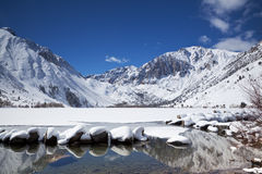 Alpine lake in the winter Stock Photo