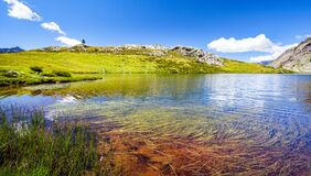Free Alpine Lake With Reflections Royalty Free Stock Photos - 170199518