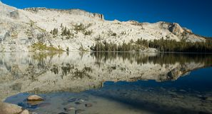 Alpine lake - Yosemite NP Royalty Free Stock Image