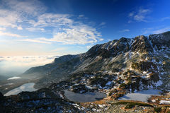 Alpine lakes royalty free stock images