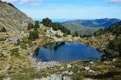 Alpine lakes in the French area Bigorre Royalty Free Stock Images