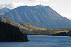 Alpine lakes and golden aspens, northwestern BC Stock Photography