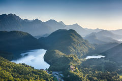 Alpine Lakes Near Neuschwanstein Castle Stock Image