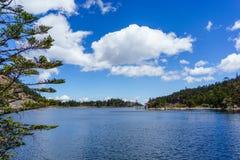Alpine lakes royalty free stock image