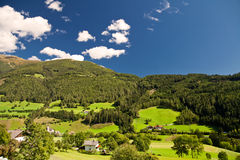 Alpine landscape. Small village in the Austrian Alps Royalty Free Stock Photos