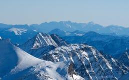 Alpine landscape. Winter landscape of Austrian Alps royalty free stock image