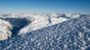 Alpine landscape. Winter landscape of Austrian Alps Royalty Free Stock Photography