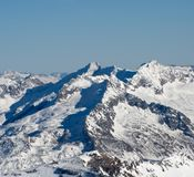 Alpine landscape. Winter landscape of Austrian Alps Stock Photos