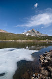 Alpine landscape. Alpine Lakes and mountains in the High Sierra near the Yosemite National Park stock photography