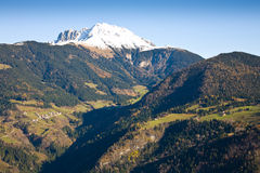 Alpine landscape. An alpine landscape with a snowy peak, Italy royalty free stock photography