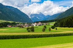 Alpine landscape. The `Valle Anterselva` or `Antholzertal` in South Tyrol, Italy Royalty Free Stock Image