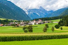 Alpine landscape. The `Valle Anterselva` or `Antholzertal` in South Tyrol, Italy Stock Photography
