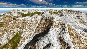 Alpine landscape in the Alps 3d rendering. Alpine landscape in the Pennine Alps Stock Images