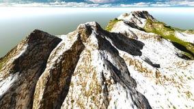 Alpine landscape in the Alps 3d rendering. Alpine landscape in the Pennine Alps Stock Photography