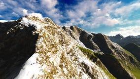 Alpine landscape in the Alps 3d rendering. Alpine landscape in the Pennine Alps Stock Photos