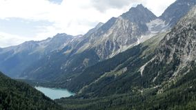 Antholzer valley. The alpine landscape of Antholzer valley, South Tyrol, Italy, as seen from the Staller Sattel, Eastern Tyrol, Austria stock video
