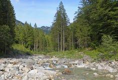 Alpine Landscape. Bavarian Alps near Neuschwanstein Castle and the town of Fussen Royalty Free Stock Image