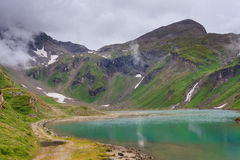 Alpine landscape with beautiful lake Stock Photography