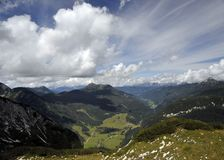 Alpine landscape and beautiful skies Royalty Free Stock Images