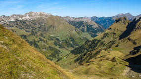 Alpine landscape close to Oberstdorf Royalty Free Stock Photos