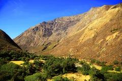 Alpine landscape in Cordiliera Huayhuash Royalty Free Stock Photo