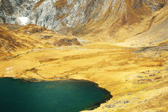 Alpine landscape in Cordiliera Huayhuash Royalty Free Stock Photo
