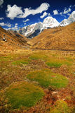 Alpine landscape in Cordiliera Huayhuash Royalty Free Stock Photos