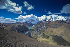 Alpine landscape in Cordiliera Huayhuash Stock Photos