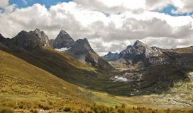 Alpine landscape in Cordiliera Huayhuash Stock Photography