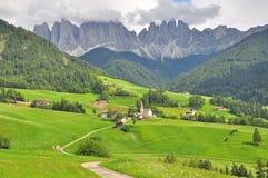 Alpine landscape in Dolomites Royalty Free Stock Photos