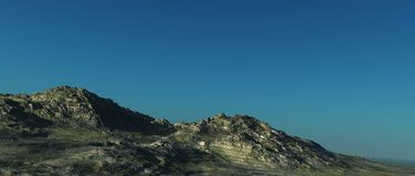 Alpine landscape. On high altitude with detailed rocks Royalty Free Stock Photos