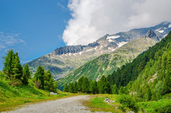 Alpine landscape and high mountain peaks, Austria Stock Image