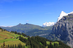 Alpine View in Switzerland Stock Photo