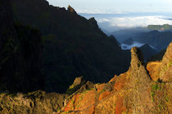Alpine landscape in Madeira Island Stock Images
