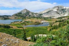 Alpine landscape in the Medicine Bow Mountains of Wyoming Stock Photo