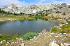 Alpine landscape in the Medicine Bow Mountains of Wyoming. In summer stock image
