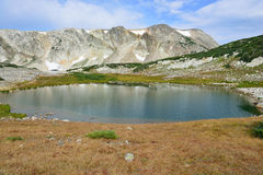 Alpine landscape in the Medicine Bow Mountains of Wyoming. In summer royalty free stock photography