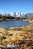 Alpine landscape of Mont Blanc Stock Photo