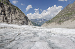 Alpine landscape with mountains and glacier Stock Image