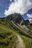 Alpine Landscape at Muehlbach am Hochkoenig in Summer Stock Image