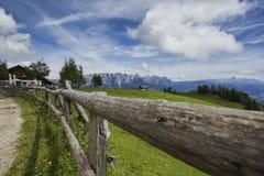 Alpine Landscape at Muehlbach am Hochkoenig in Summer Stock Photography