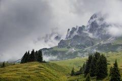 Alpine Landscape at Muehlbach am Hochkoenig in Summer Stock Photo