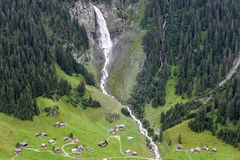Alpine landscape near the Klausen pass in the Swiss Alps Stock Photography