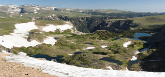 Alpine Landscape Panorama. Alpine landscape along the Beartooth Highway Royalty Free Stock Photography