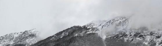 Alpine landscape panorama banner Royalty Free Stock Photo