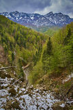 Alpine landscape in the spring Royalty Free Stock Photo