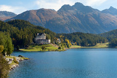 Alpine landscape, St. Moritz, Switzerland. Royalty Free Stock Image