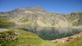 Alpine landscape in summer stock video