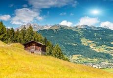 Alpine landscape during the summer season Stock Photos